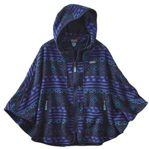 Patagonia Synchilla Fleece Patterened Poncho